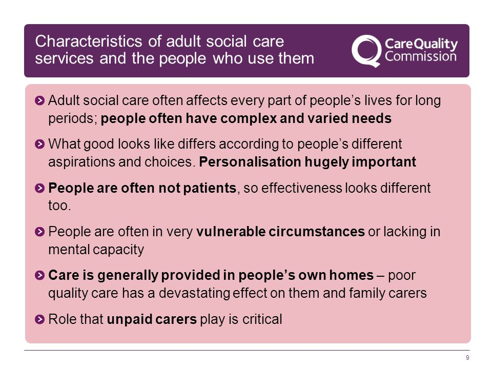 Characteristics of adult social care services and the people who use them