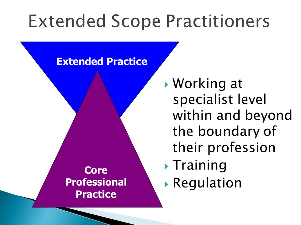 Extended Scope Practitioners
