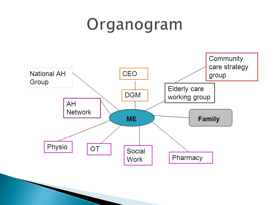Organogram Community care strategy group National AH Group CEO