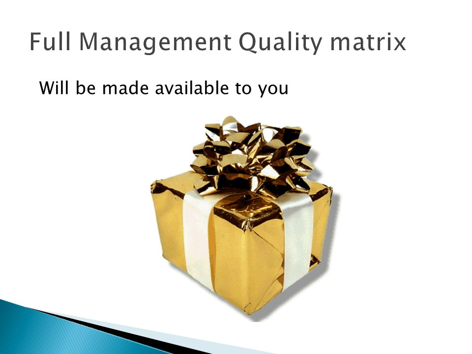 Full Management Quality matrix