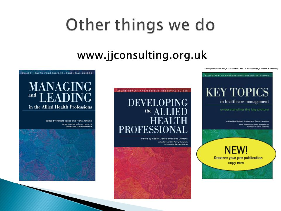 Other things we do www.jjconsulting.org.uk 60