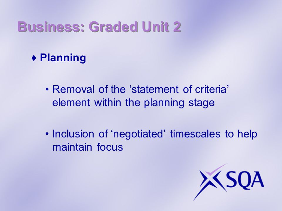 Business: Graded Unit 2 Planning