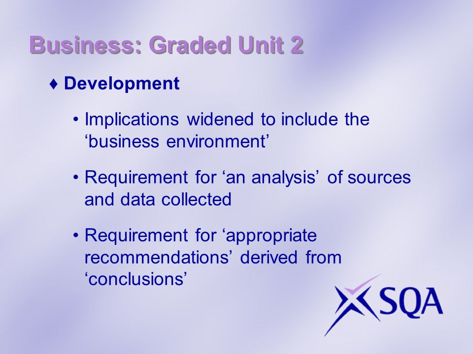 Business: Graded Unit 2 Development