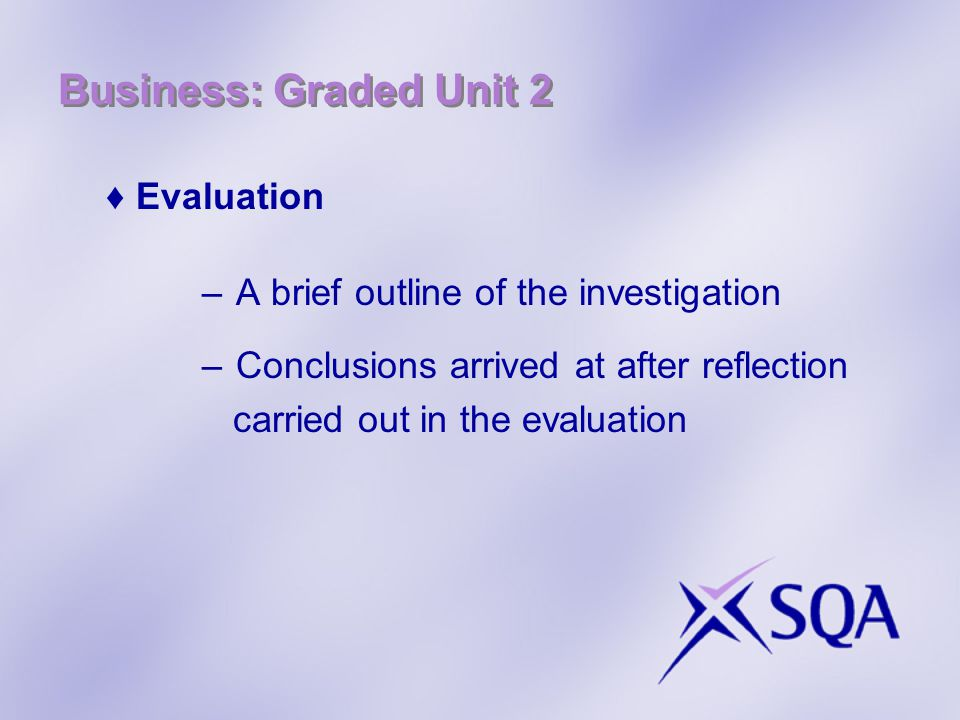 Business: Graded Unit 2 Evaluation