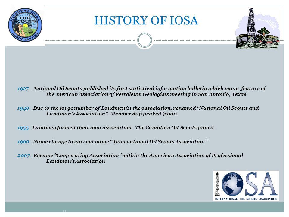 HISTORY OF IOSA
