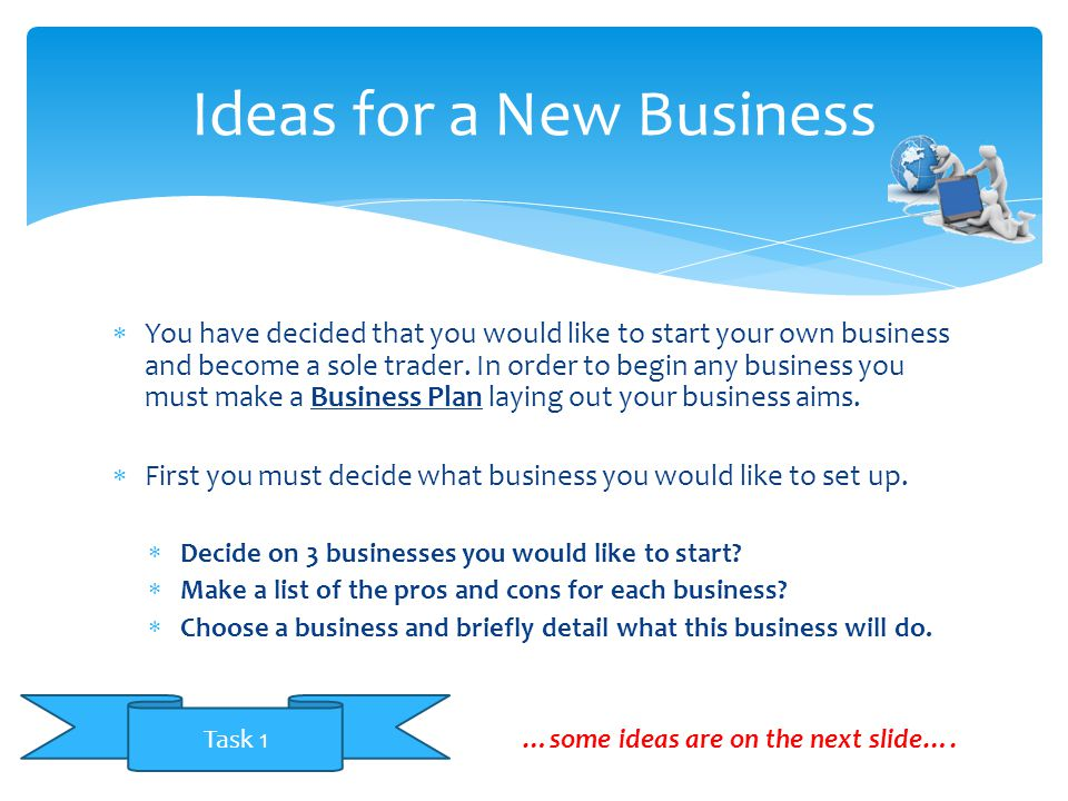 Ideas for a New Business