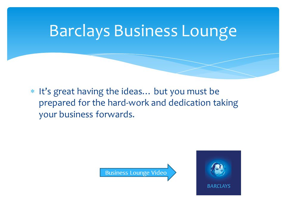 Barclays Business Lounge