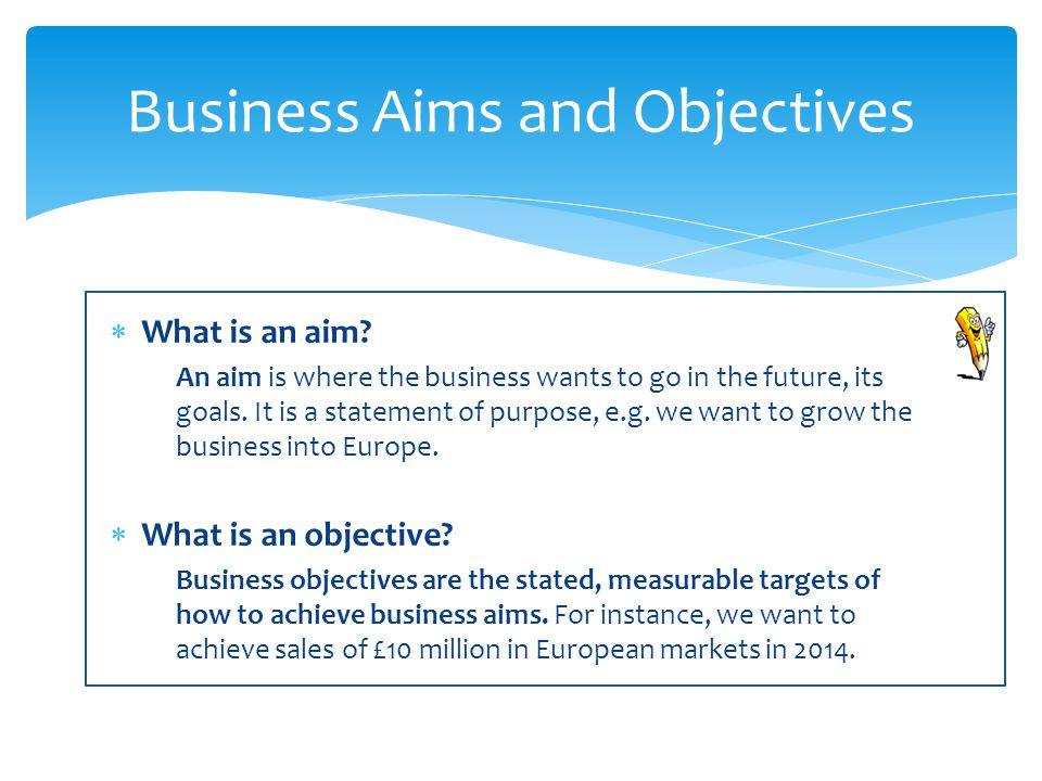 Business Aims and Objectives