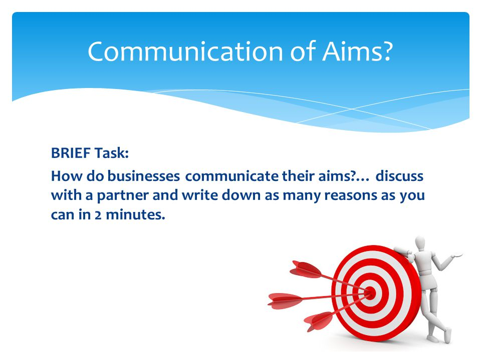 Communication of Aims