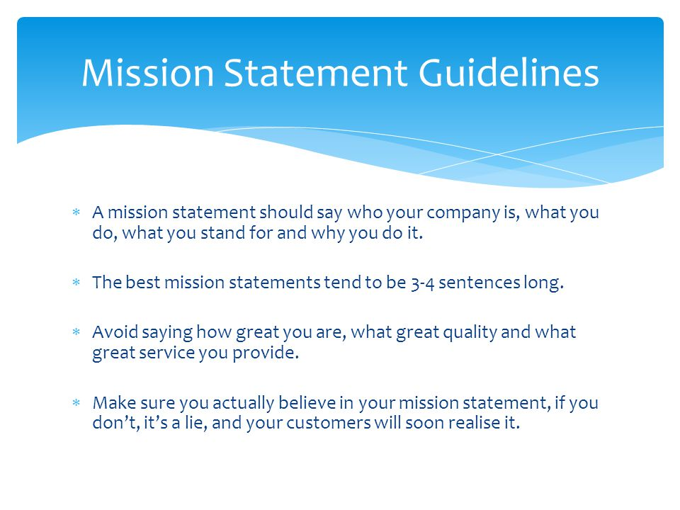Mission Statement Guidelines
