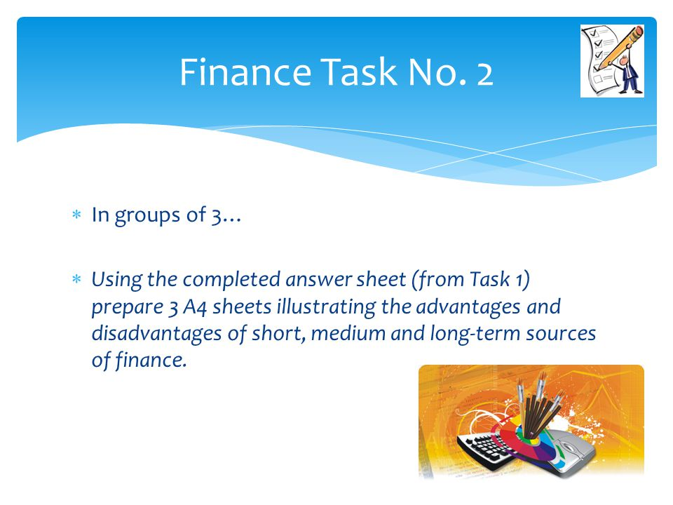 Finance Task No. 2 In groups of 3…