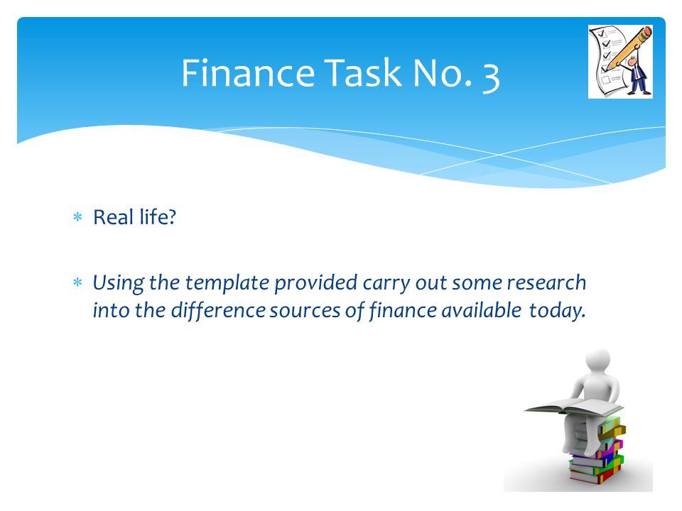 Finance Task No. 3 Real life