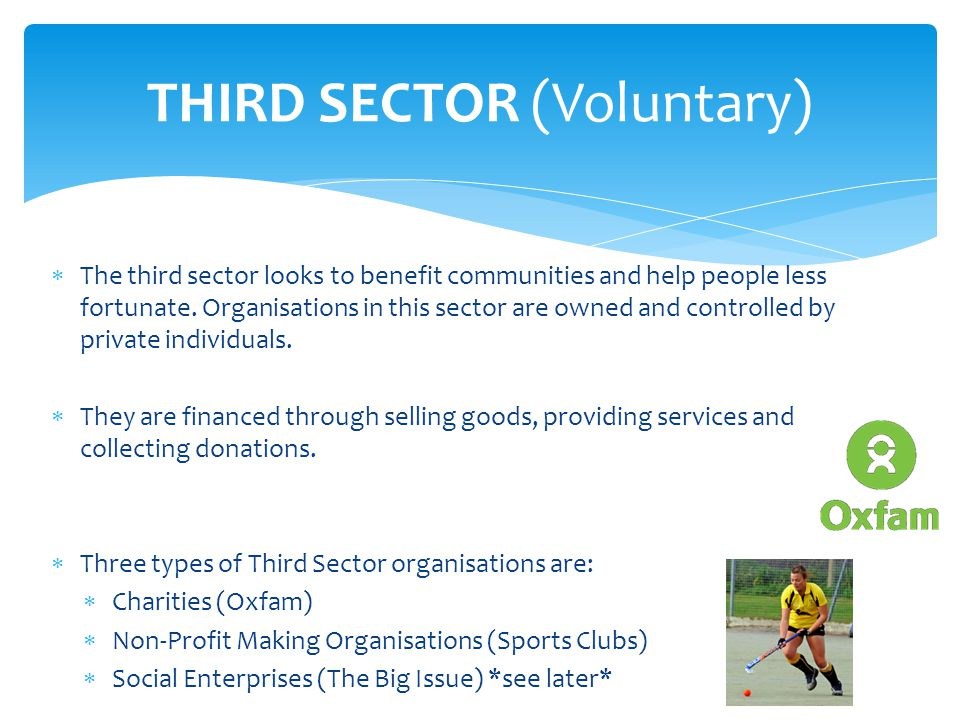 THIRD SECTOR (Voluntary)