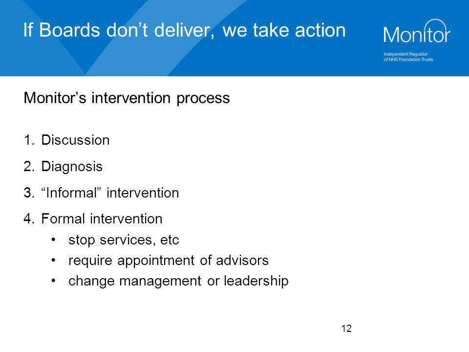 If Boards don't deliver, we take action