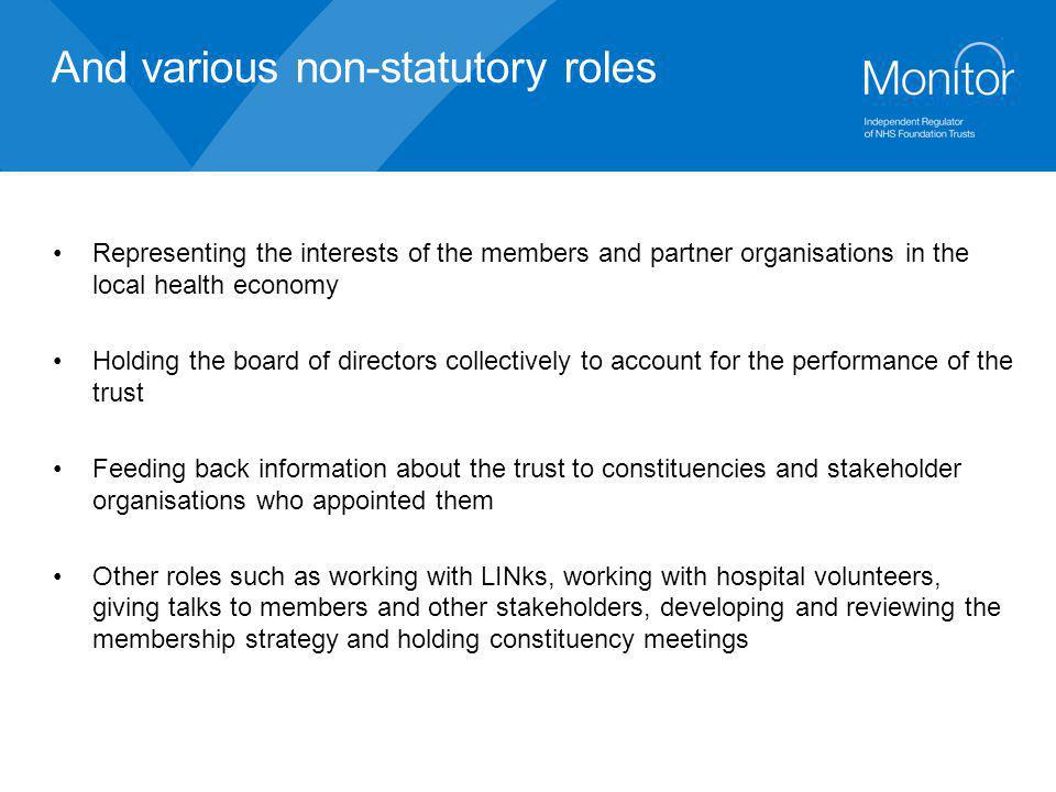 And various non-statutory roles