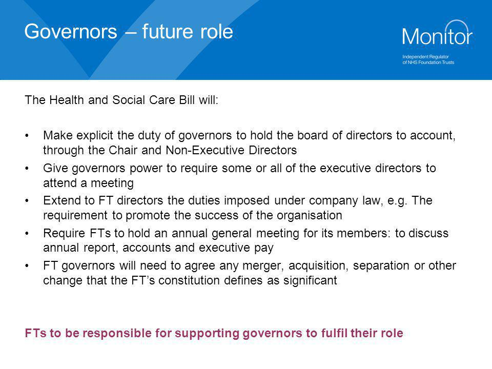 Governors – future role
