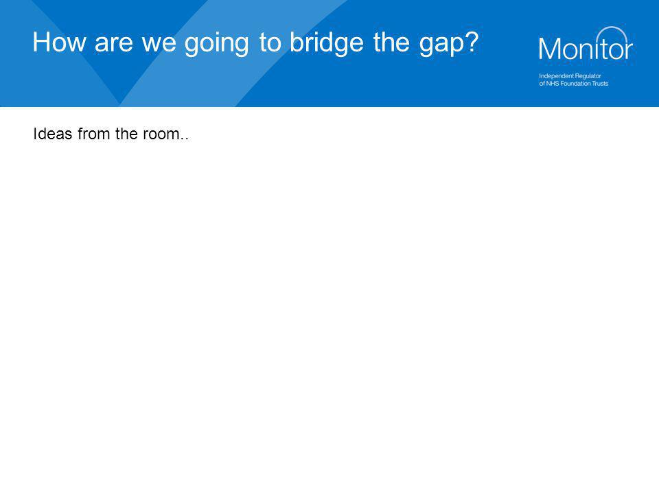 How are we going to bridge the gap