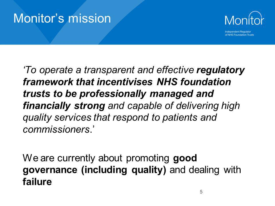 Monitor's mission