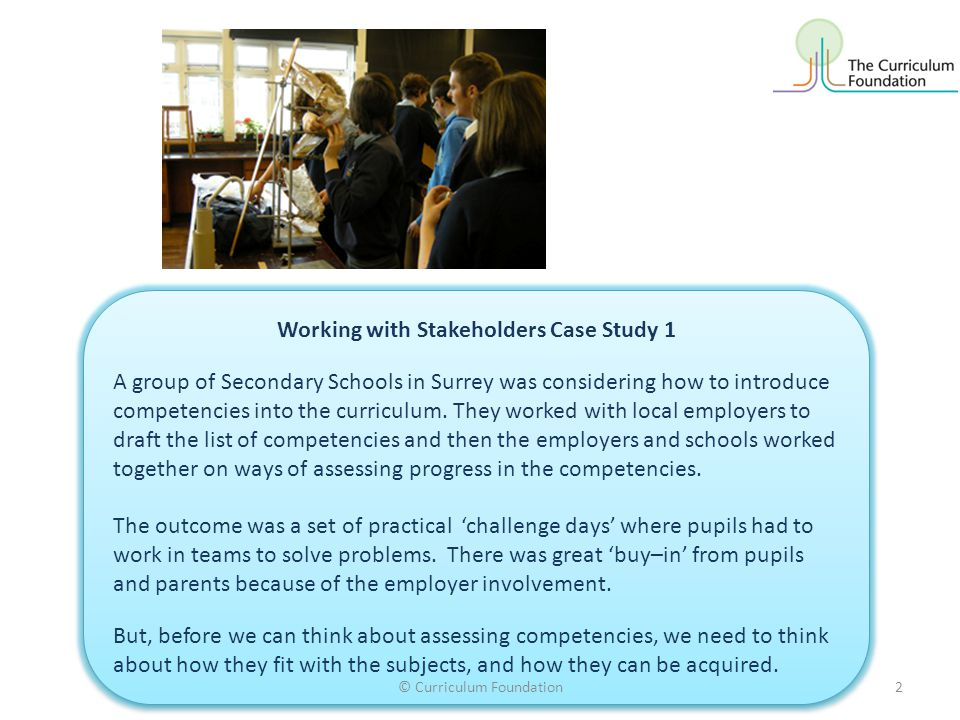 Working with Stakeholders Case Study 1