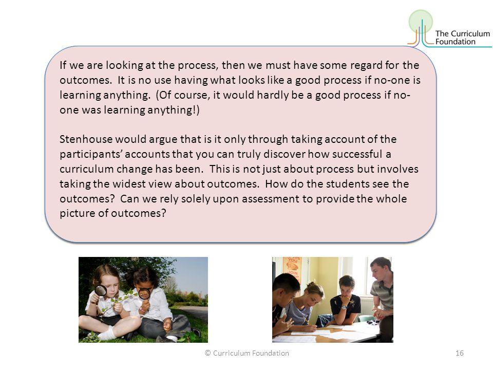 © Curriculum Foundation