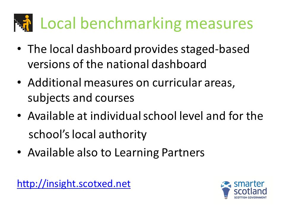 Local benchmarking measures