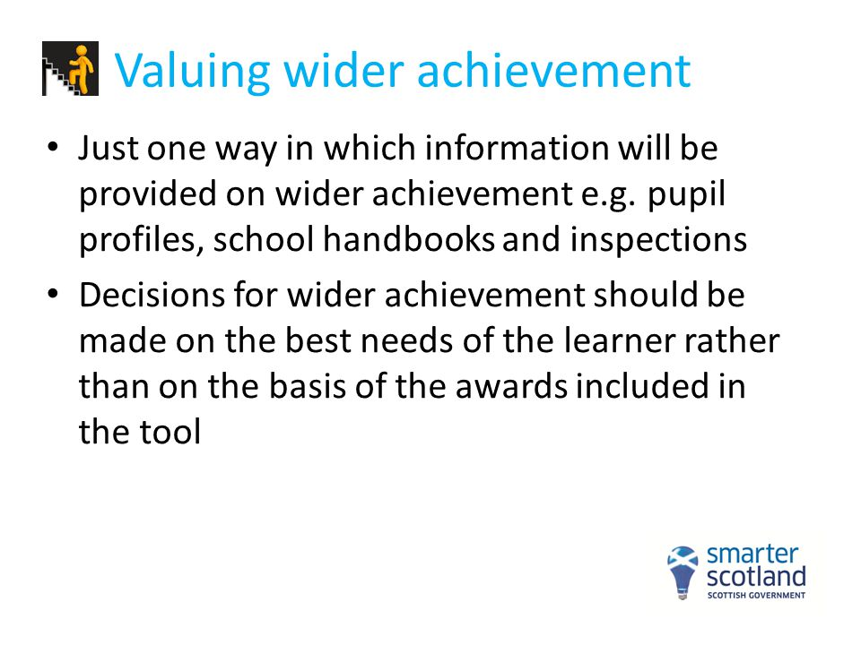 Valuing wider achievement