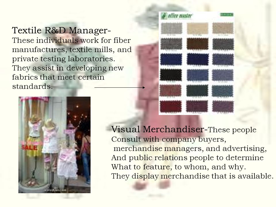 Visual Merchandiser-These people
