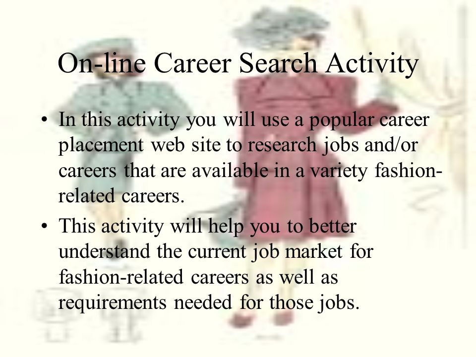 On-line Career Search Activity