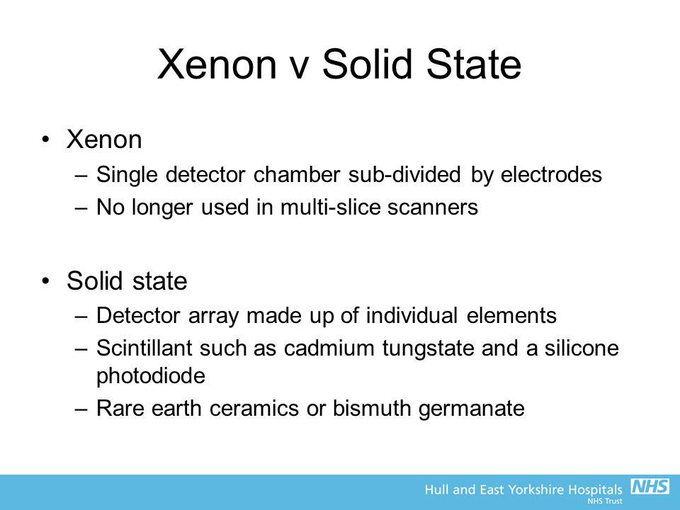 Xenon v Solid State Xenon Solid state