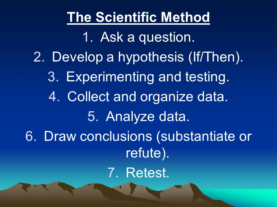 Develop a hypothesis (If/Then). Experimenting and testing.