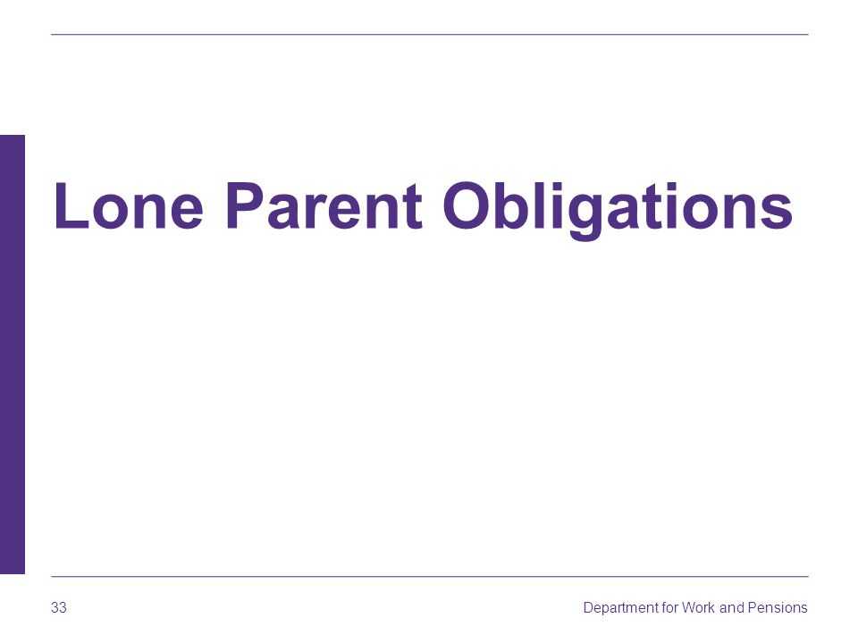 Lone Parent Obligations
