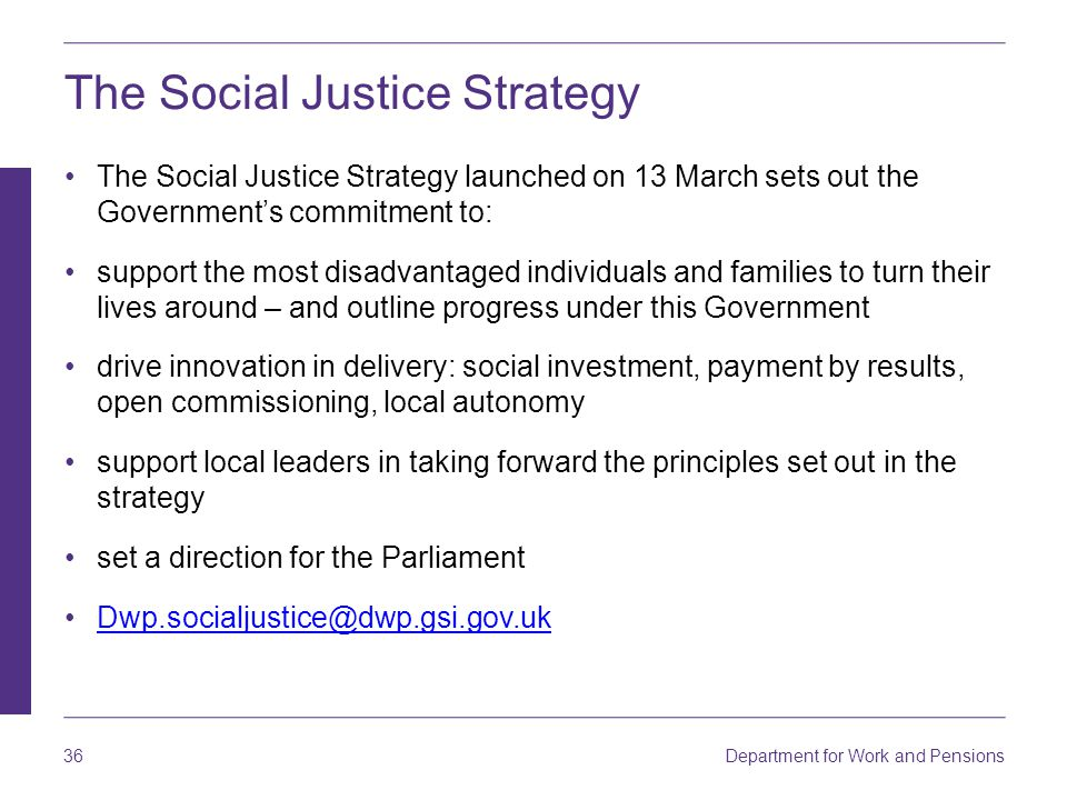 The Social Justice Strategy