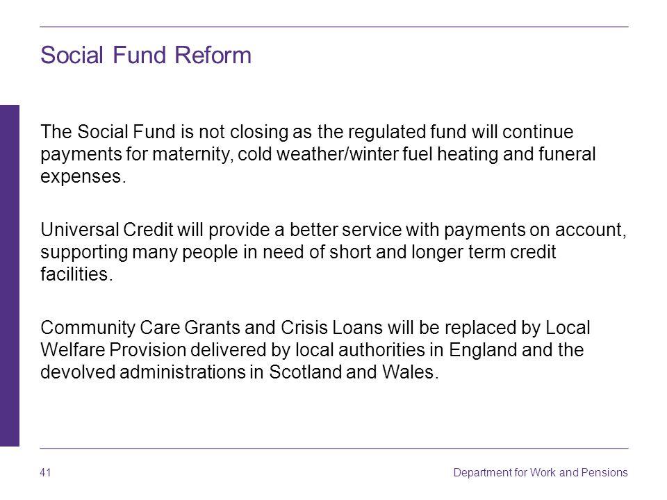Social Fund Reform