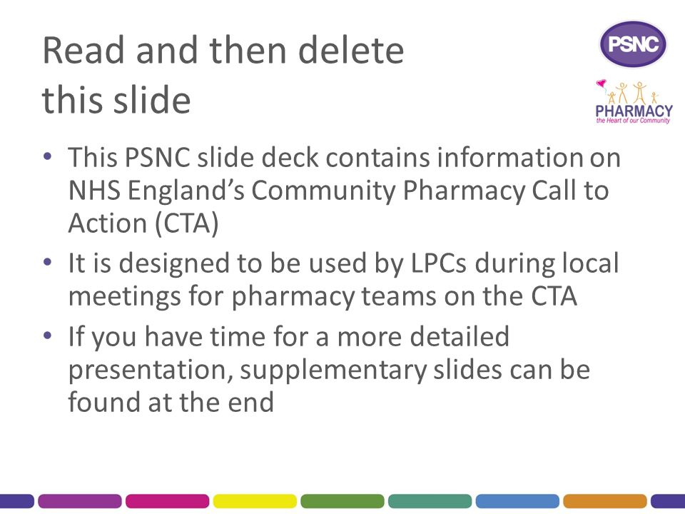 Read and then delete this slide