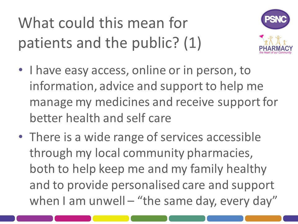 What could this mean for patients and the public (1)