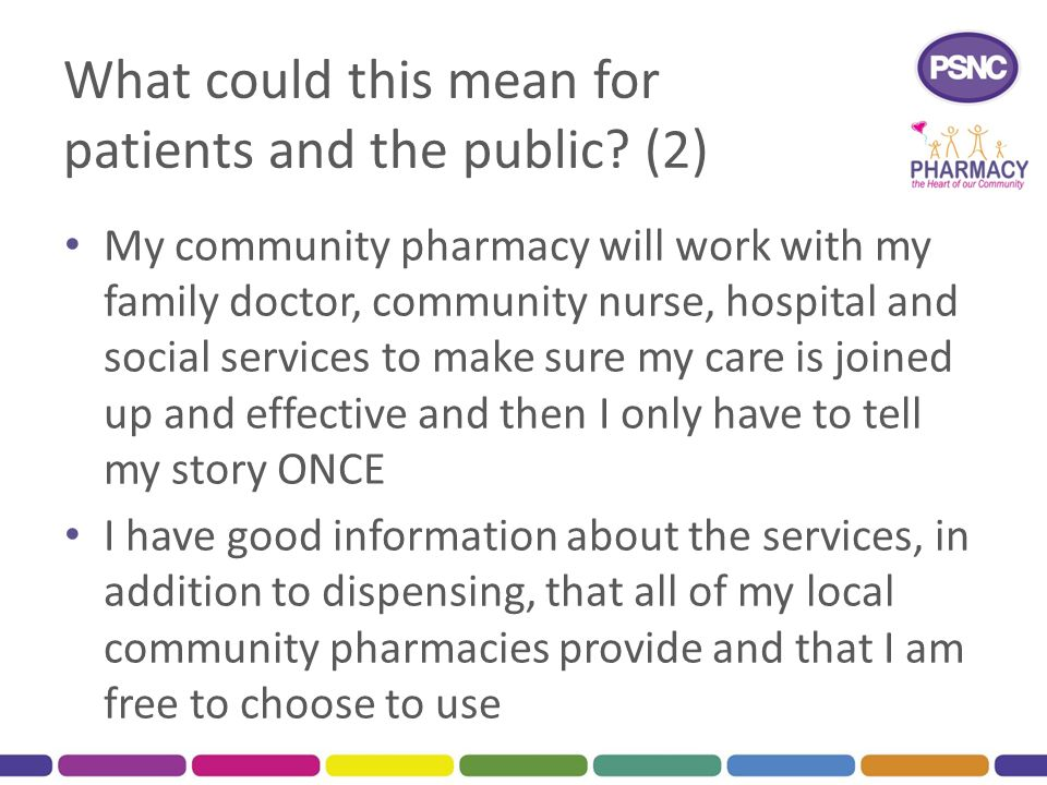 What could this mean for patients and the public (2)