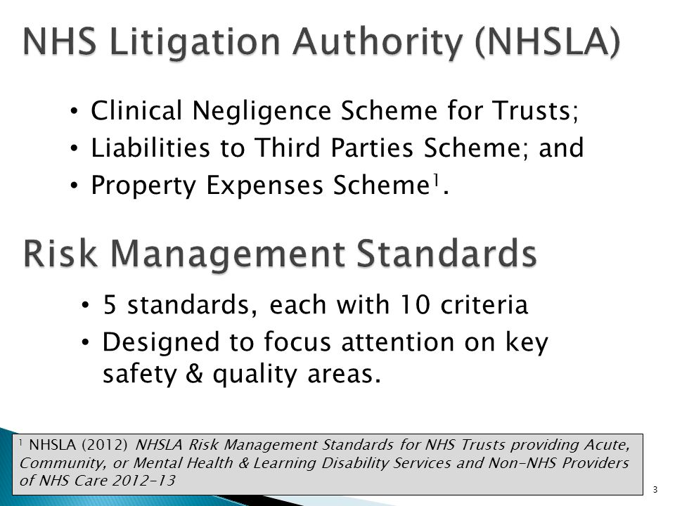 NHS Litigation Authority (NHSLA)