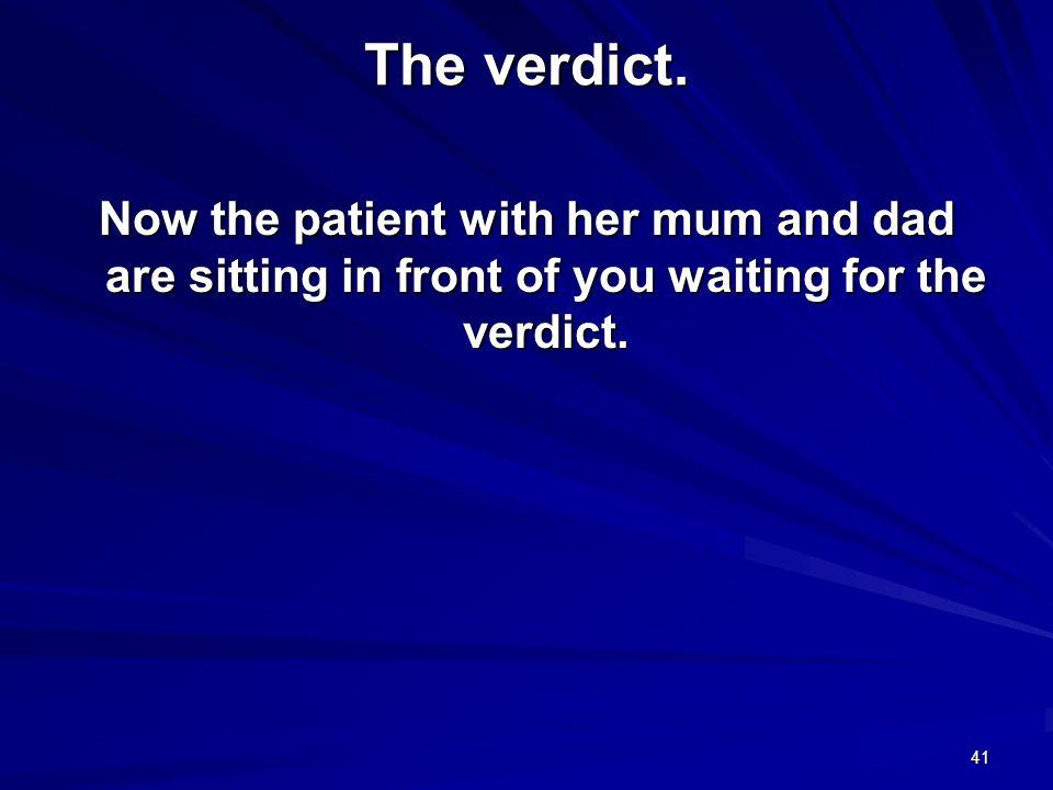 The verdict.