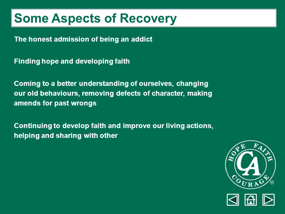Some Aspects of Recovery