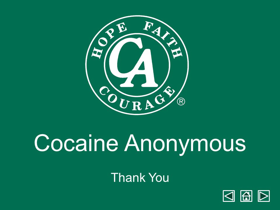 Cocaine Anonymous Thank You