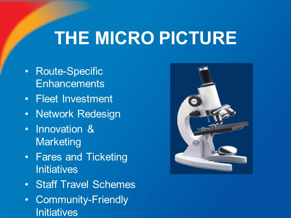 THE MICRO PICTURE Route-Specific Enhancements Fleet Investment