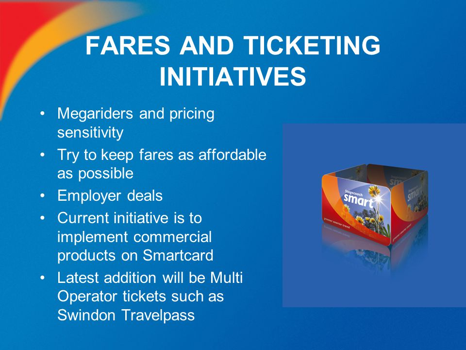 FARES AND TICKETING INITIATIVES