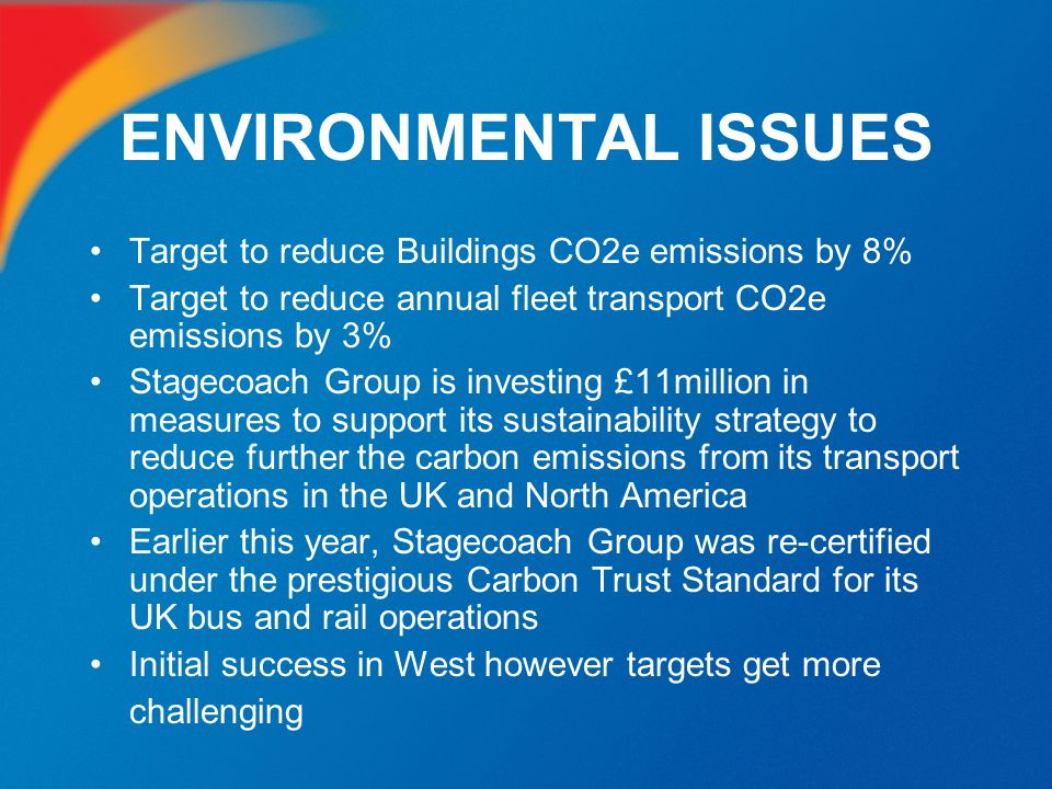 ENVIRONMENTAL ISSUES Target to reduce Buildings CO2e emissions by 8%