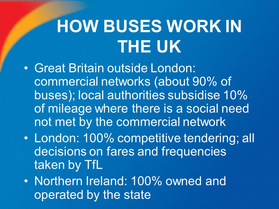 HOW BUSES WORK IN THE UK