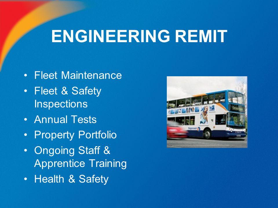ENGINEERING REMIT Fleet Maintenance Fleet & Safety Inspections