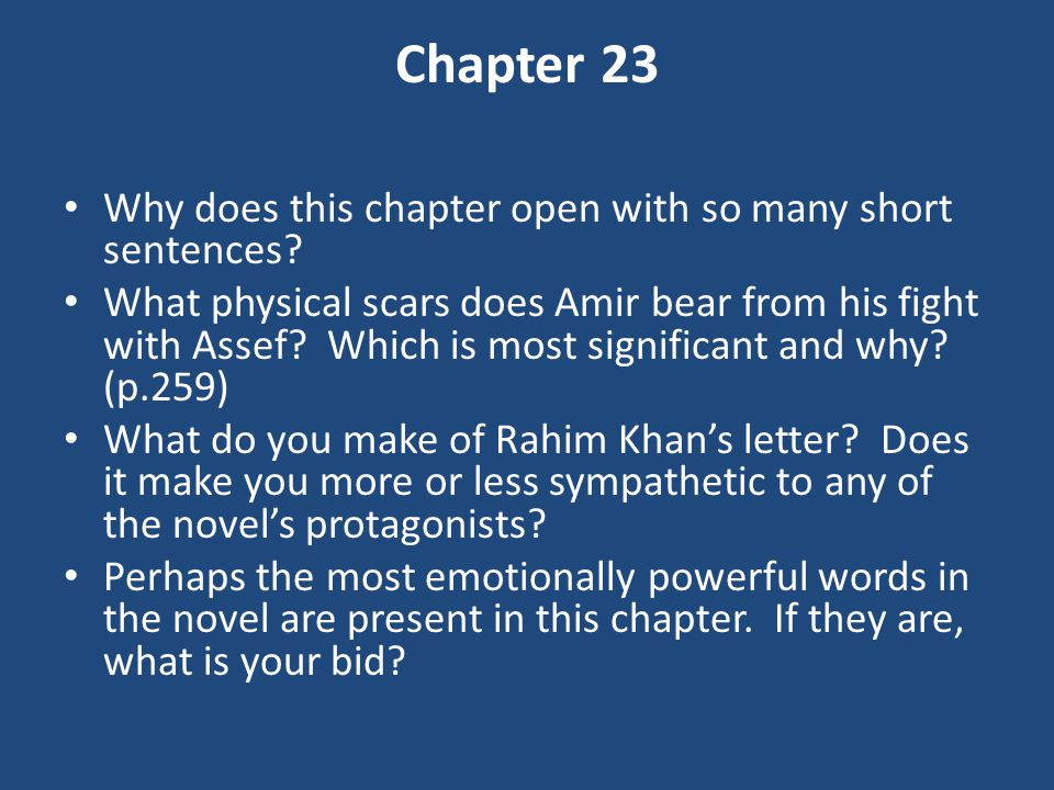 Chapter 23 Why does this chapter open with so many short sentences