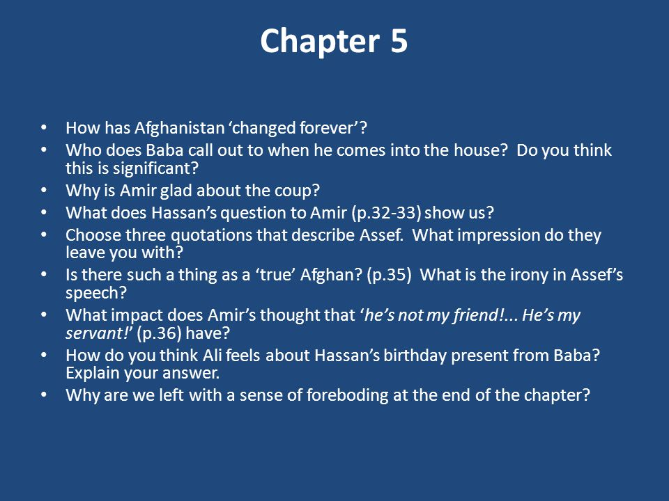 Chapter 5 How has Afghanistan 'changed forever'