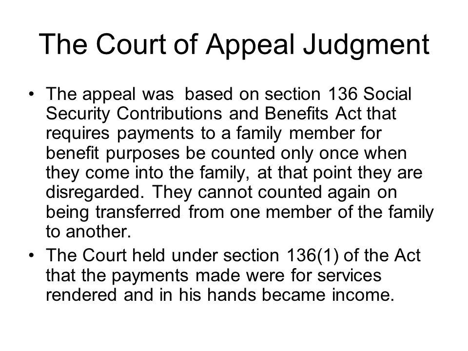 The Court of Appeal Judgment