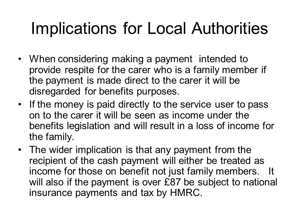 Implications for Local Authorities
