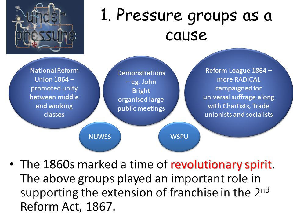 1. Pressure groups as a cause